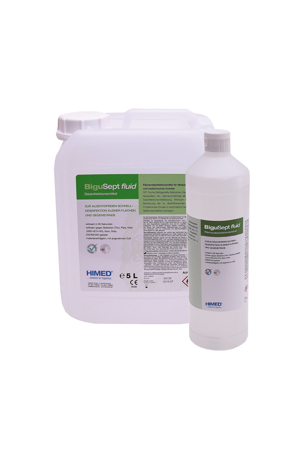BiguSept fluid - gebrauchsfertige Flächendesinfektion,  500 ml / 1 L / 5 L