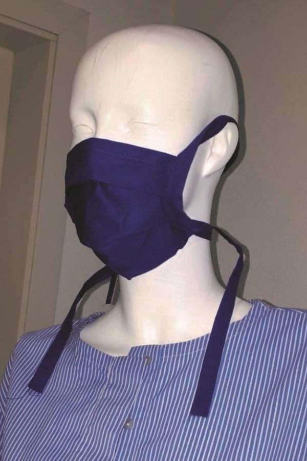 CorMask wiederverwendbarer Mundschutz - blau