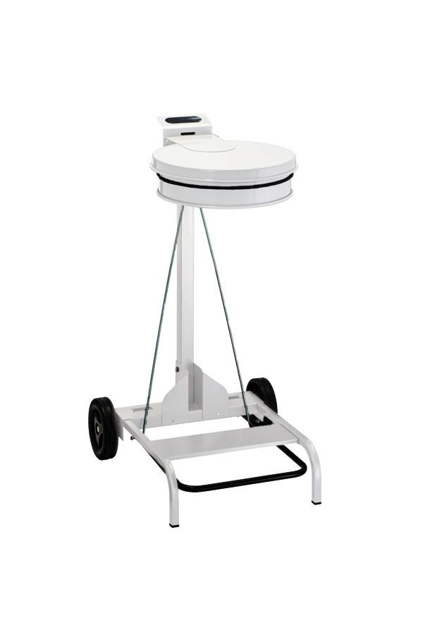 "Abfallsack-Träger (Sammler)  ""BAGONE"" - fahrbar aus Stahl, weiß oder grau"