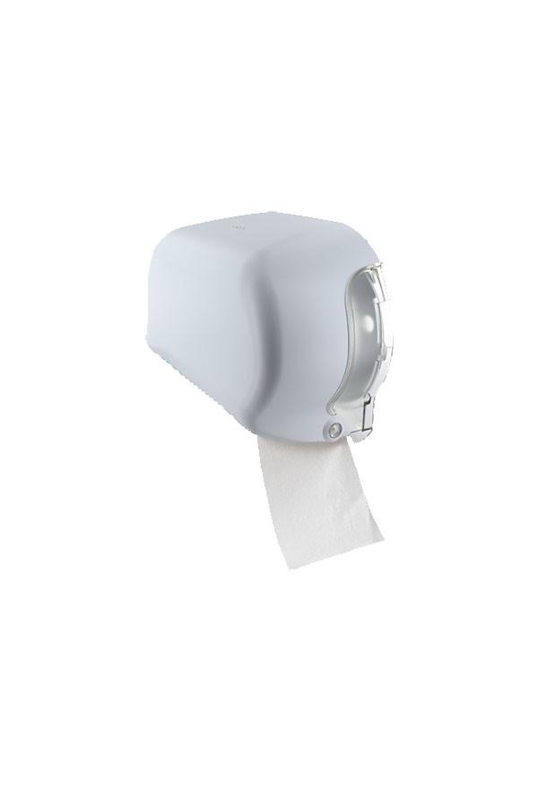 Toilettenpapierrollenspender PRO, ABS, Weiß, (Doppelrolle)