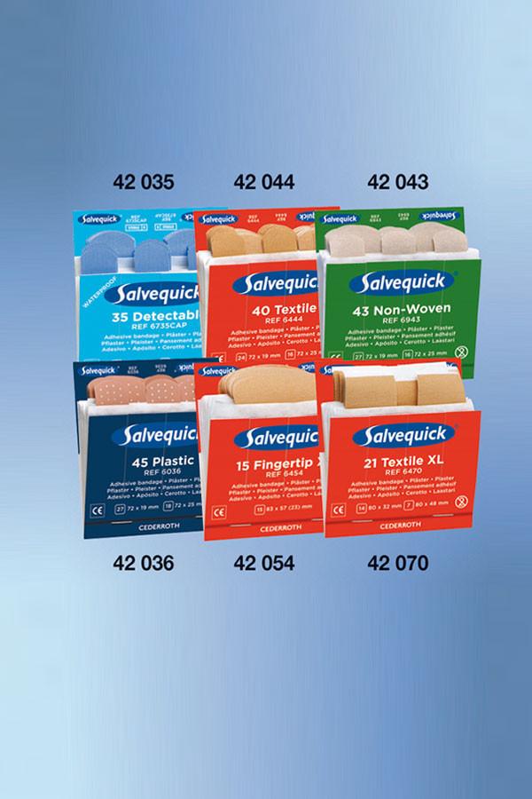 Salvequick®-Nachfüll-Einsatz  35 Pflasterstrips detektierbar
