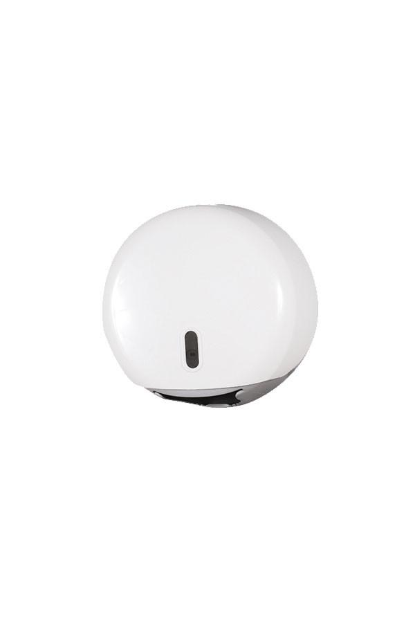 WC Papierspender JUMBO MINI, weiß-grau