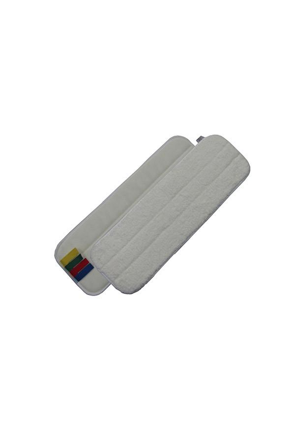 Mikrofasermopp weiß mit Farbcodierung, 44 x 13 cm, 5 Stück