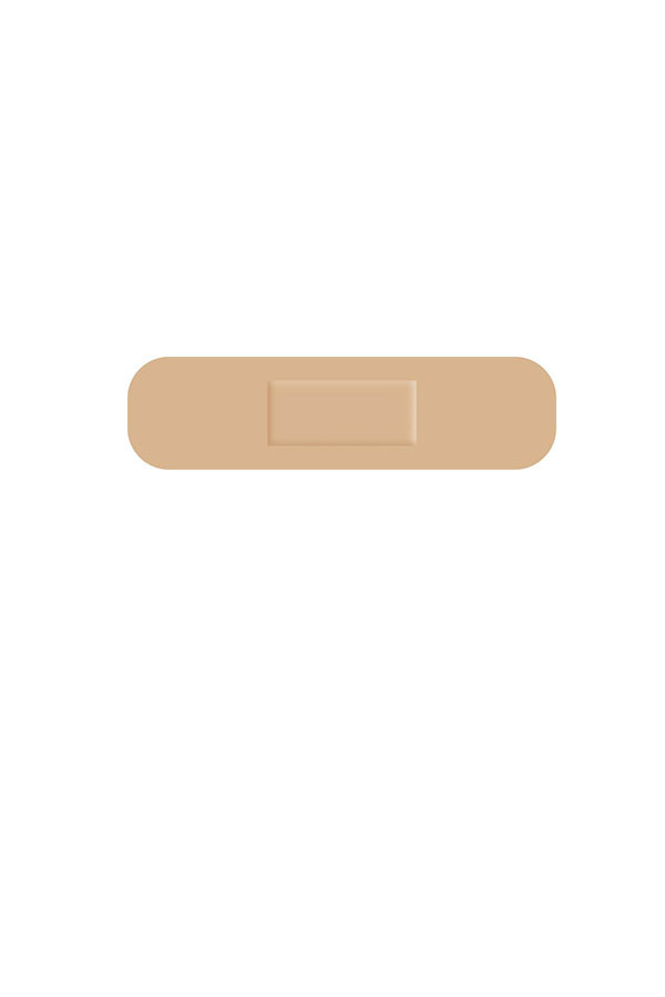 Pflaster-Strip - hautfarben - Universal - 19 x 72 mm  100 Stück
