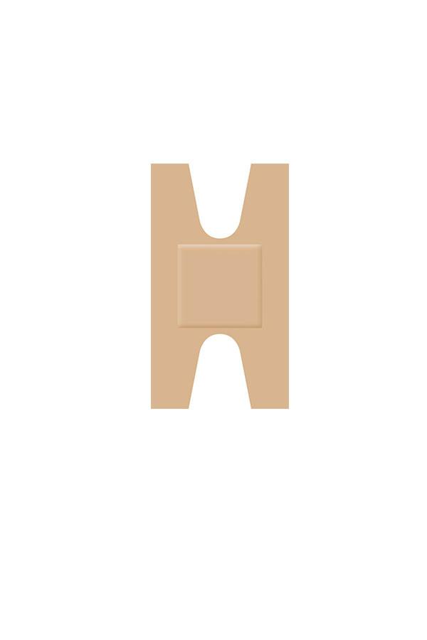Fingergelenkpflaster -  hautfarben - Universal - 68 x 38 mm  50 Stück