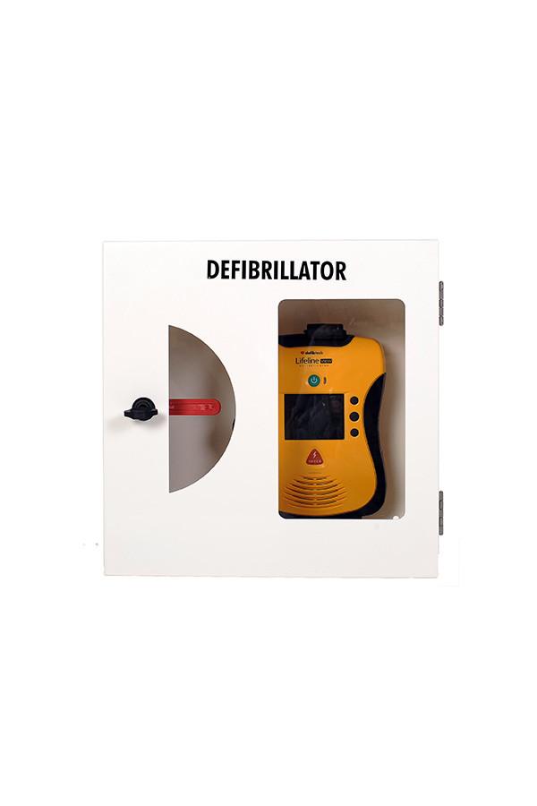AED Wandschrank verschließbar -  weiß