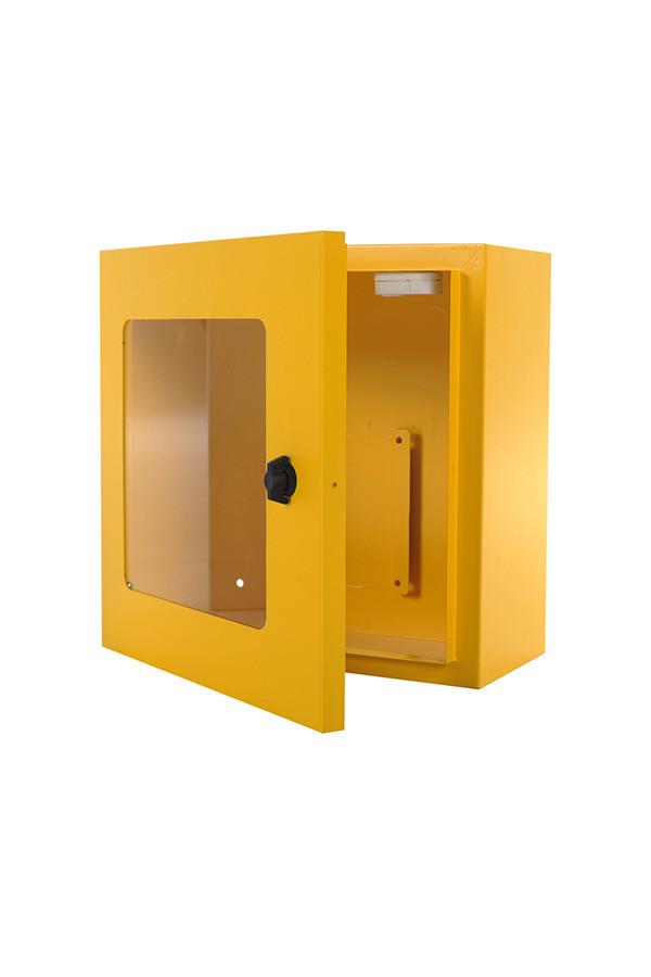 AED Wandschrank, innen mit Alarm - gelb