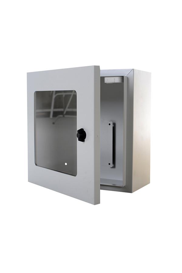AED Wandschrank, innen mit Alarm - grau