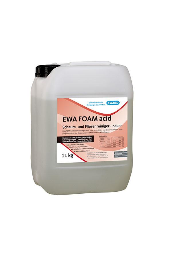EWA® FOAM acid Konzentrat, Schaum- und Fliesenreiniger, sauer – 11 kg / 22 kg