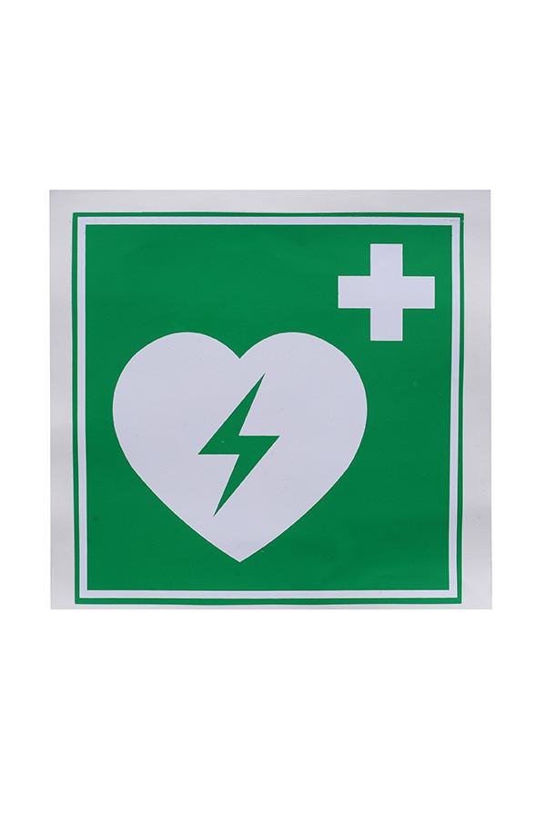 Defibrillator AED-Standortaufkleber, 15 x 15 cm