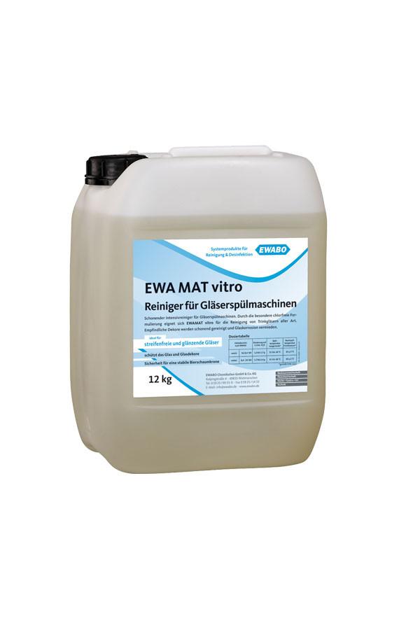 EWA® MAT vitro, Reiniger für Gläserspülmaschinen, chlorfrei – 12 kg