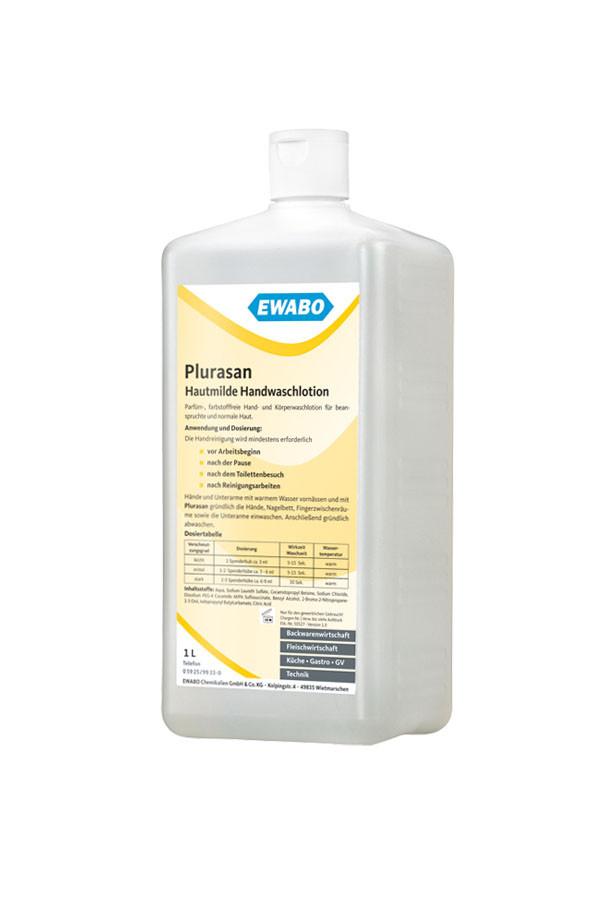 PLURASAN - Hautmilde Handwaschlotion, parfüm- und farbstofffrei – 1 L / 10 L