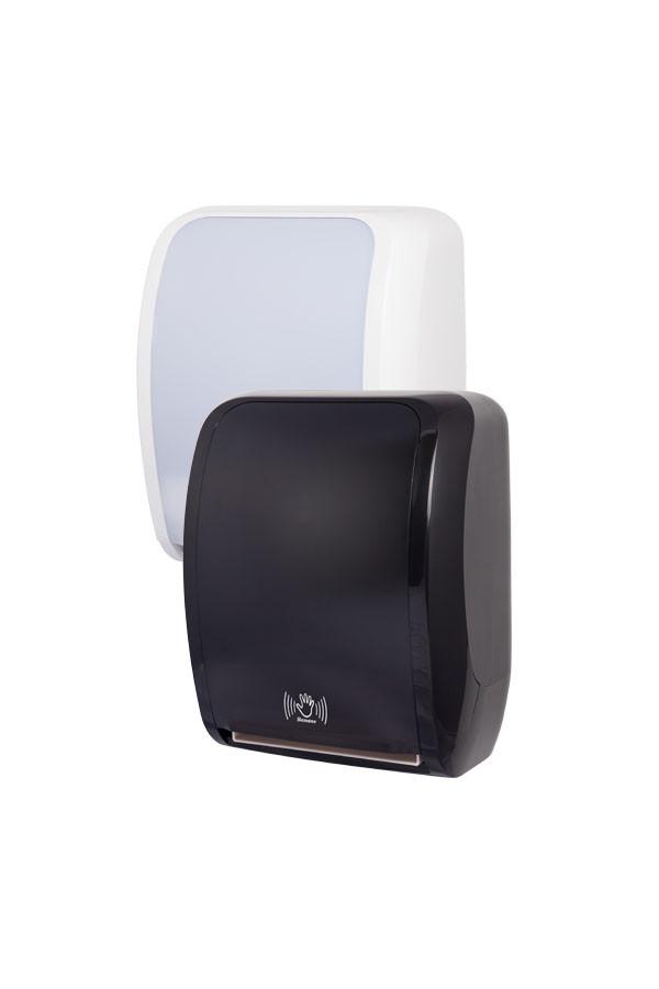 Sensor Handtuchrollenspender COSMOS, Kunststoff, Weiß oder Schwarz