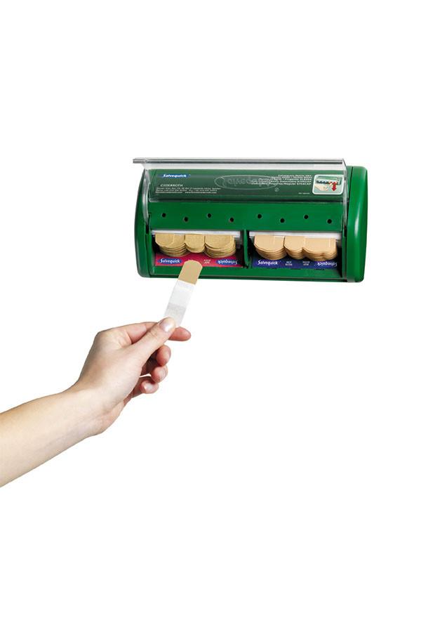 Salvequick®-Pflasterspender  gefüllt Pflasterstrips elastisch (40 St.)  und wasserfest (45 St.)