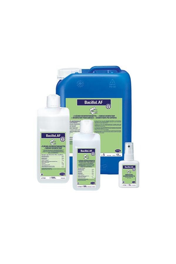 Bacillol AF, alkoholische Flächendesinfektion, gebrauchsfertig, 500 ml, 1 L, 5 L