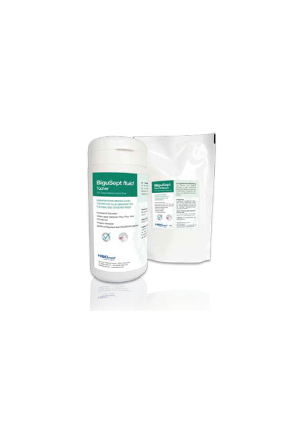 BiguSept fluid Desinfektionstücher, 20x20cm - 100 Tücher / Dose