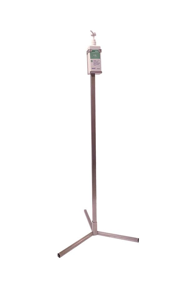 Bodenständer Typ 120, Edelstahl, zur Aufnahme einer Flaschen-Halterung für Händedesinfektion