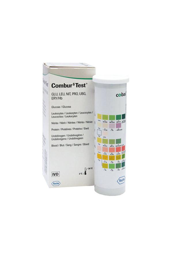 Urinteststreifen COMBUR 6 Test, 50 Stück