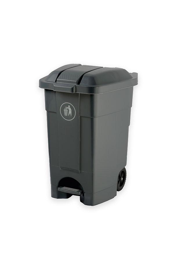 Abfall - Rollcontainer, einfarbig grau oder weiß  70 L