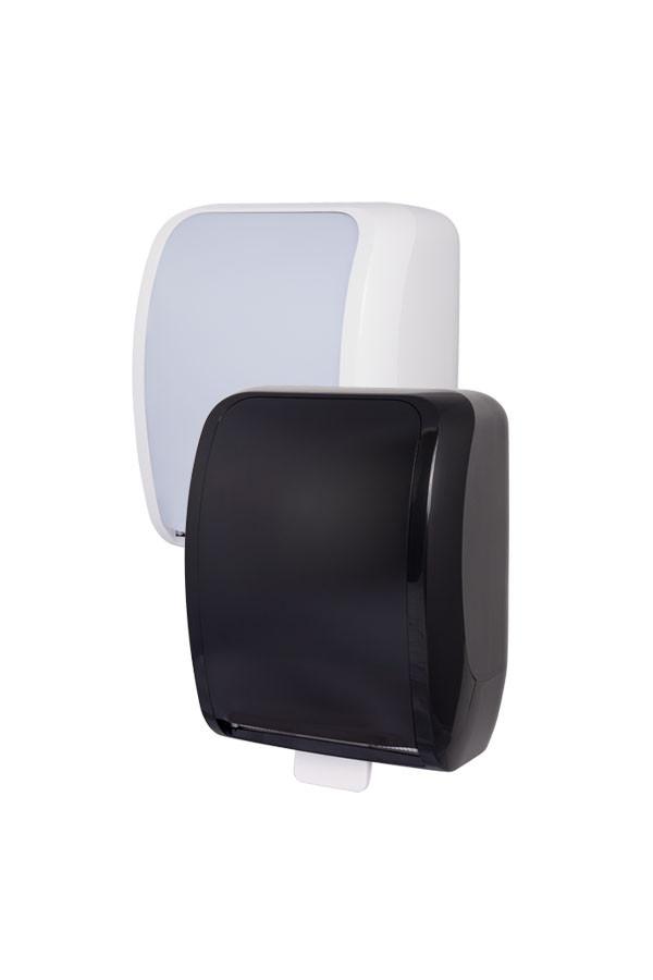 Handtuchrollenspender COSMOS Autocut, Kunststoff, Weiß oder Schwarz