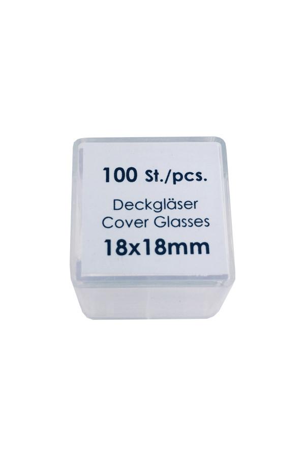 Deckgläser 18 x 18 mm - 100 Stück