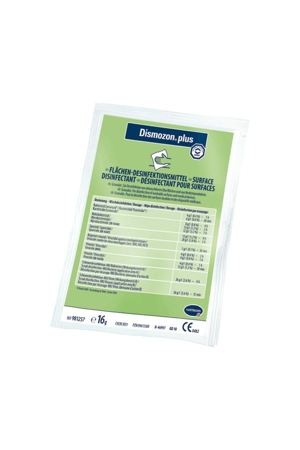 Dismozon plus Flächendesinfektion 0.5 % / 1 Stunde, 100 x 16g Beutel