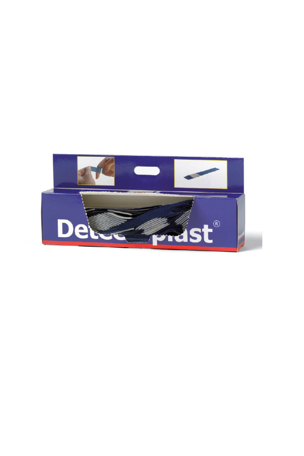 Fingerpflaster - lang -  Elastic, detektierbar  Spender 120 x 20 mm  50 Stück