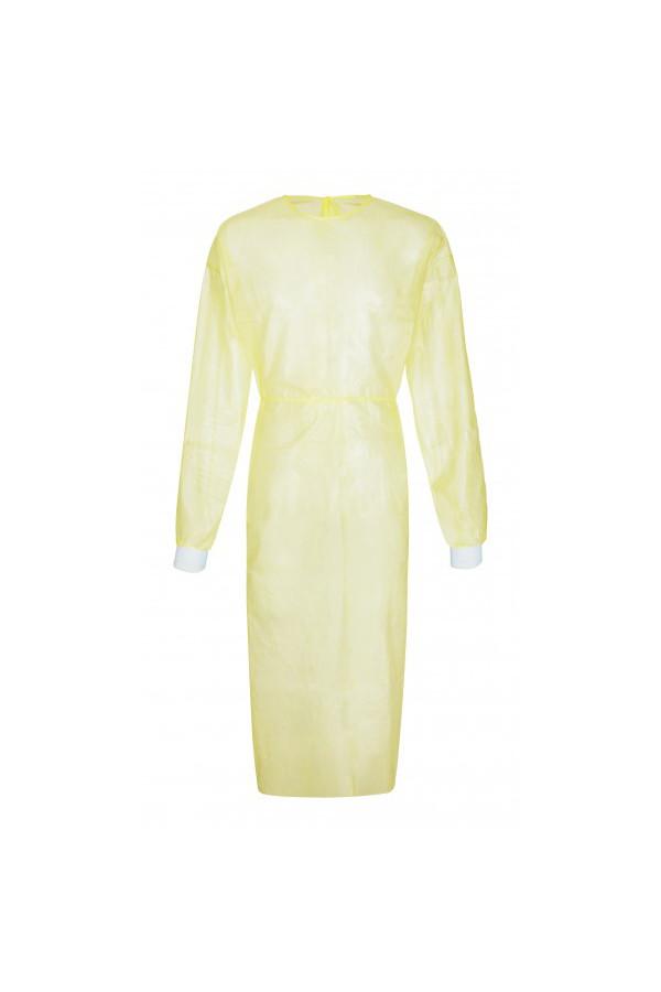 Einweg-Schutzkittel Splash Coat pro+, gelb, Gr. L - 10 Stück