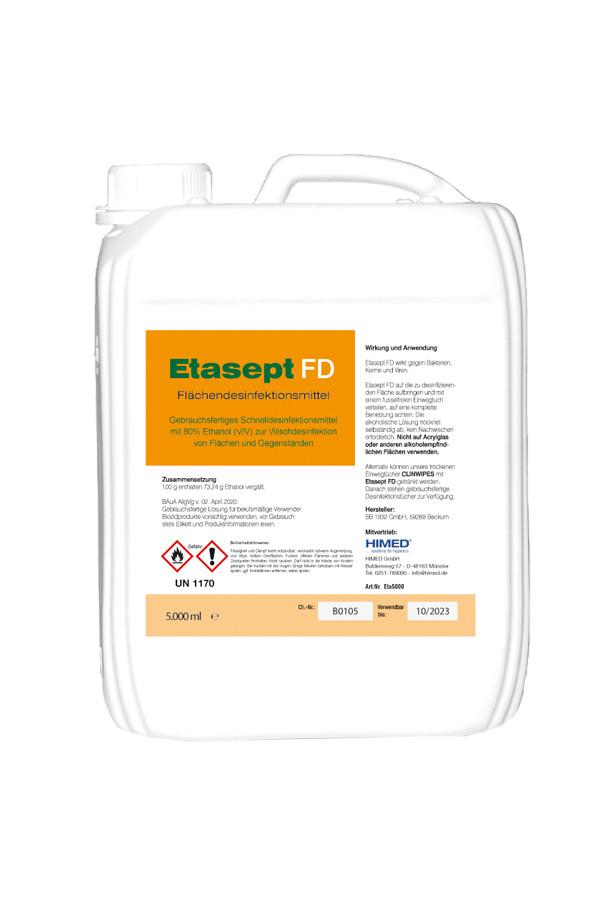 Etasept Flächendesinfektion (Ethanol 80% V/V) 5 Liter