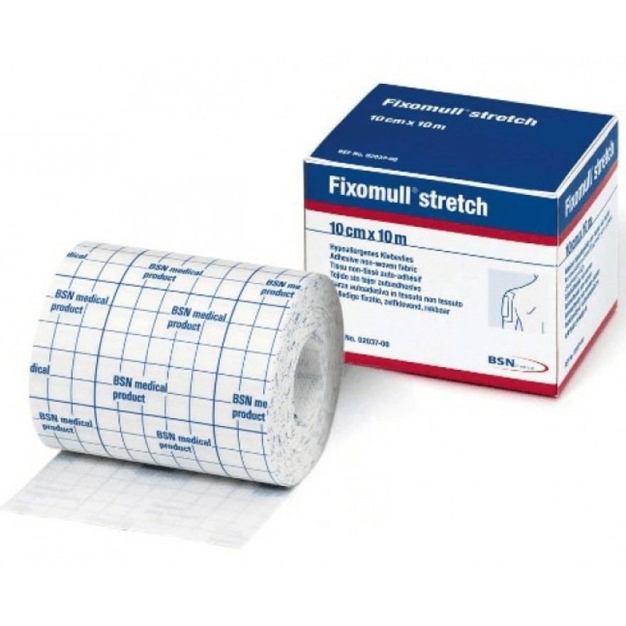 Fixomull stretch - Klebeverband, elastisch in 2 Größen - 10 / 15 cm x 10 m, Rolle