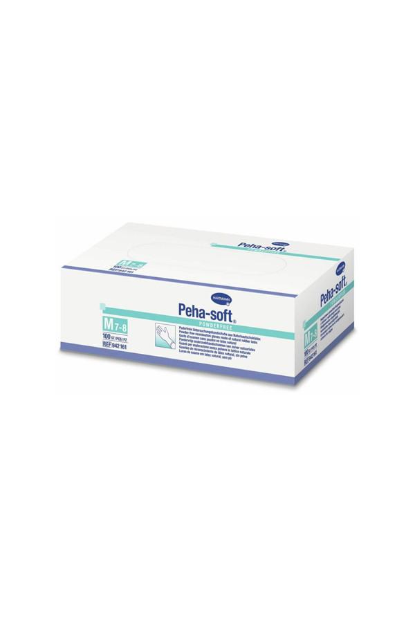 Latex - Einweg - Untersuchungshandschuhe, Peha-soft, puderfrei, Gr. XS / S / M / L / XL, 100 Stk./Box