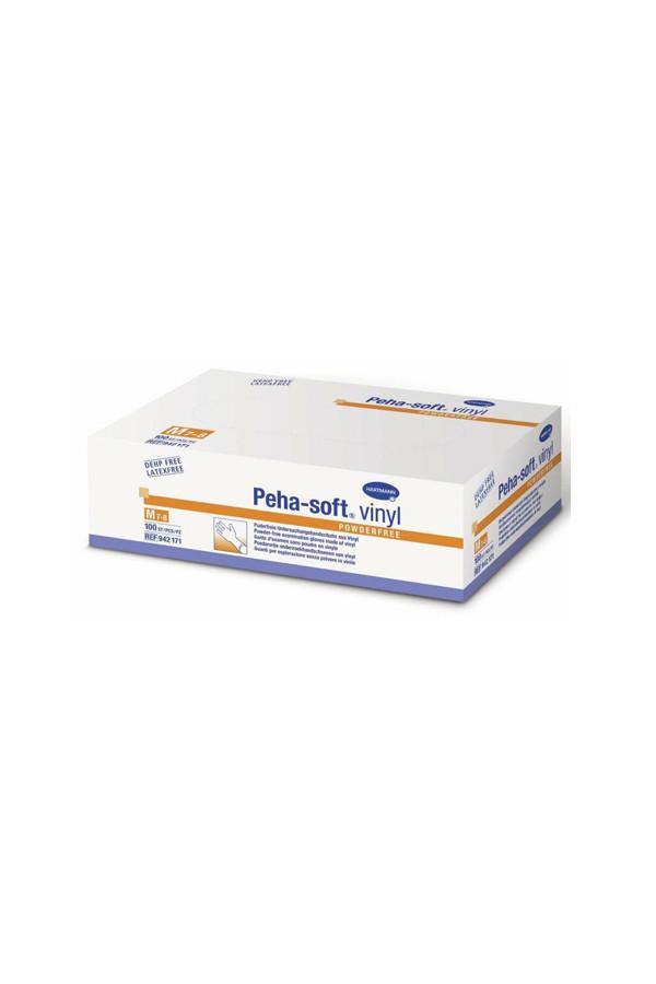 Vinyl - Einweg - Untersuchungshandschuhe, Peha-soft, puderfrei, Gr. XS / S / M / L / XL, 100 Stk./Box