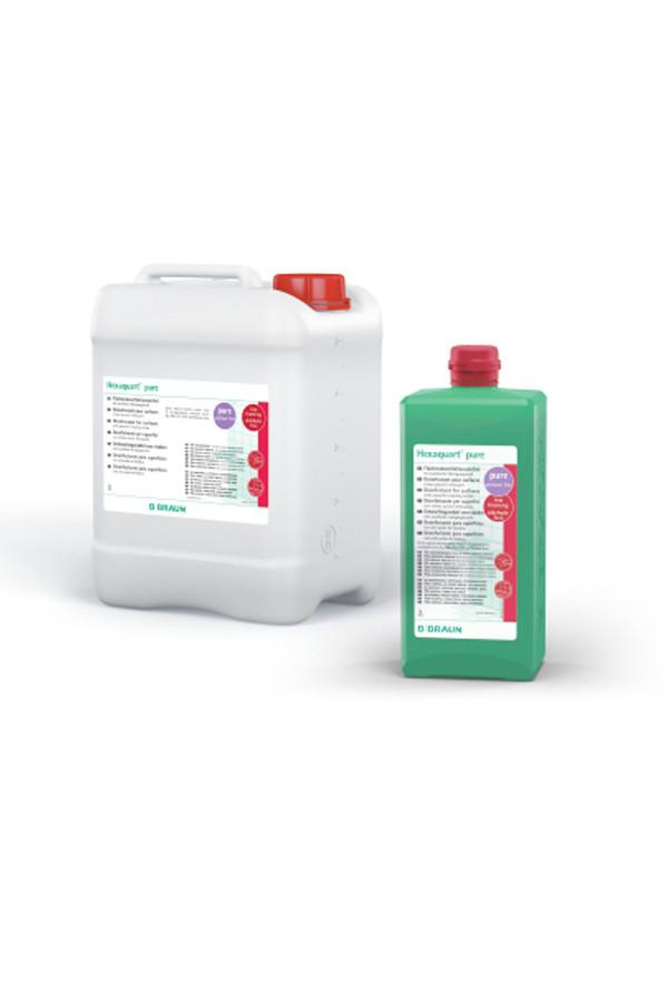Hexaquart® pure, Aldehyd- und Amin-freies Flächendesinfektionsmittel (Konzentrat), 1 % - 5 Min. - 1 / 5 Liter