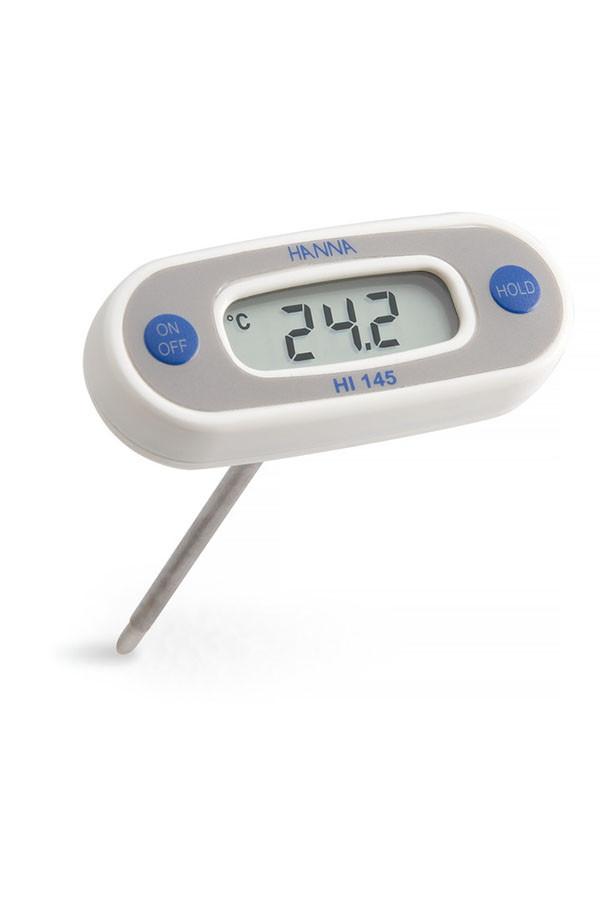 Wasserdichtes Pocket Thermometer, mit T-Fühler (125 mm), Batterie