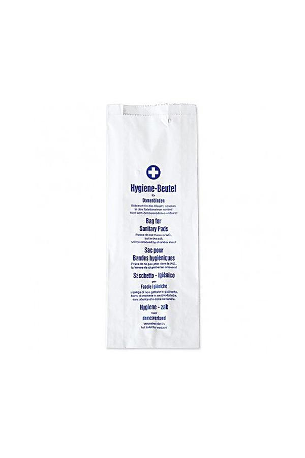Hygienebeutel weiss mit Seitenfalte - 100 Stück