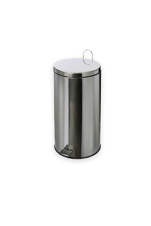 "Abfallbehälter mit Fußpedal ""INODAL""  -  40 L Edelstahl"
