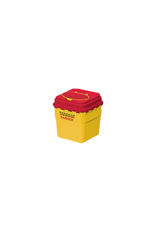 EUROMATIC, Entsorgungsbehälter eckig, mit Automatikverschluss und flachem Deckel, 3,0  + 4,0 + 7,0 Liter