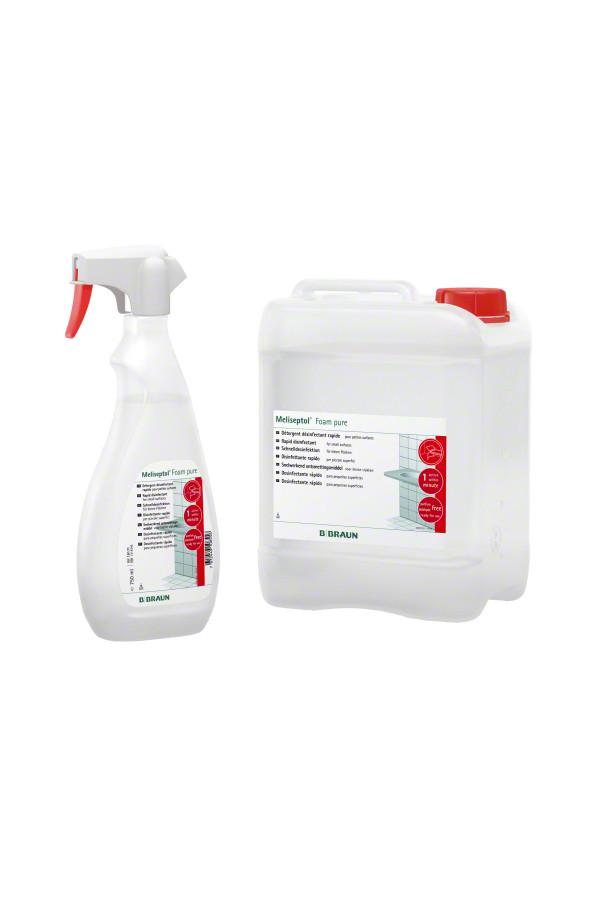 Meliseptol® Foam pure - Desinfektionsschaum für empfindliche Oberflächen - 0,750 / 5 Liter