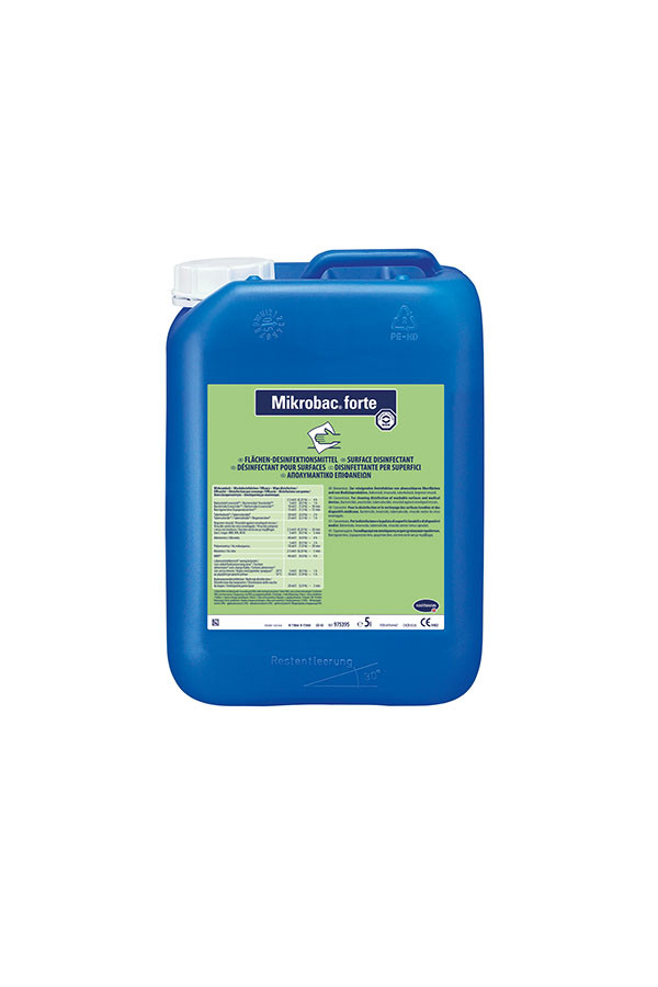 Mikrobac® forte, Aldehydfreier Flächen-Desinfektionsreiniger mit materialschonendem Schutzfaktor, 2 % - 5 Min. - 5 Liter