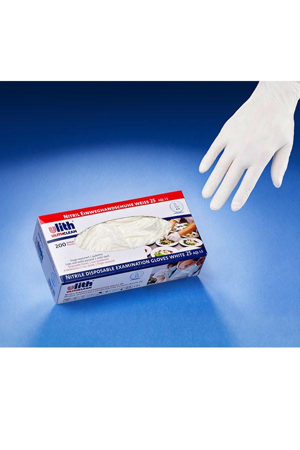 Nitril-Einweghandschuhe, MED 30, Gr. S / M / L / XL weiß, 200 Stk./Box