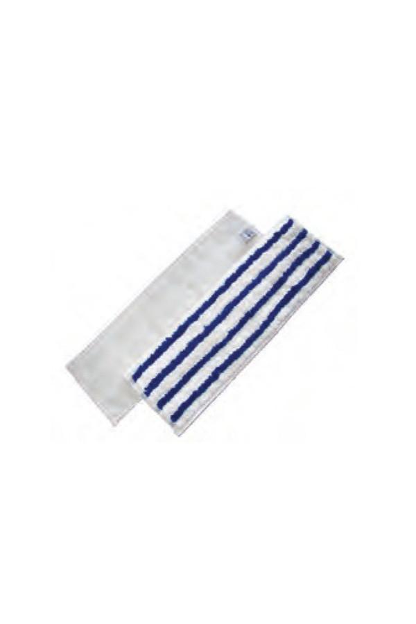Mikrofasermopp weiß/blau mit Scheuerstreifen, 44 x 13 cm, 5 Stück