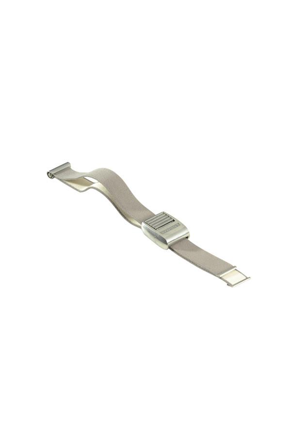 Staugurt, grau, Baumwollgewebe mit Metallverschluß - 1 Stück
