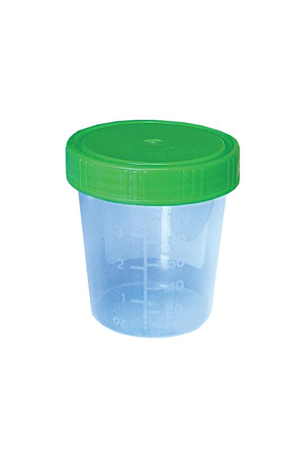 Urinbecher mit grünem Schraubdeckel - 500 Stück