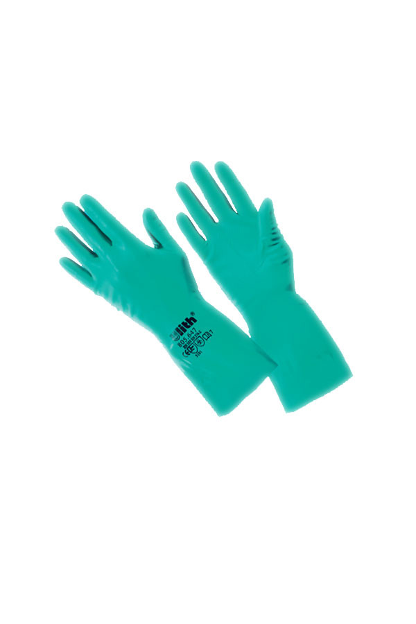 Chemikalien-Schutzhandschuh - grüner Nitril-Kautschuk -  Gr. 7(S) - 10(XL), 12 Paar/Pack