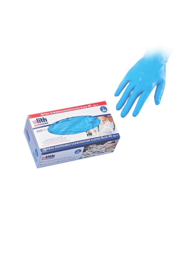 Nitril-Einweghandschuhe, MED 40, Gr. S / M / L / XL blau, puderfrei, 200 Stk./Box