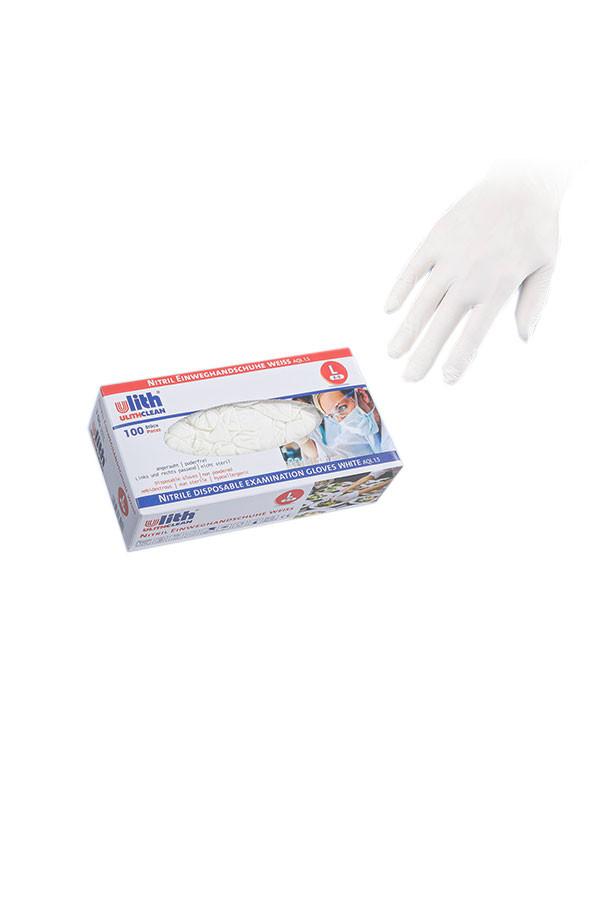 Nitril-Einweghandschuhe, PREMIUM 50, Gr. S / M / L / XL weiß, puderfrei, 100 Stk./Box